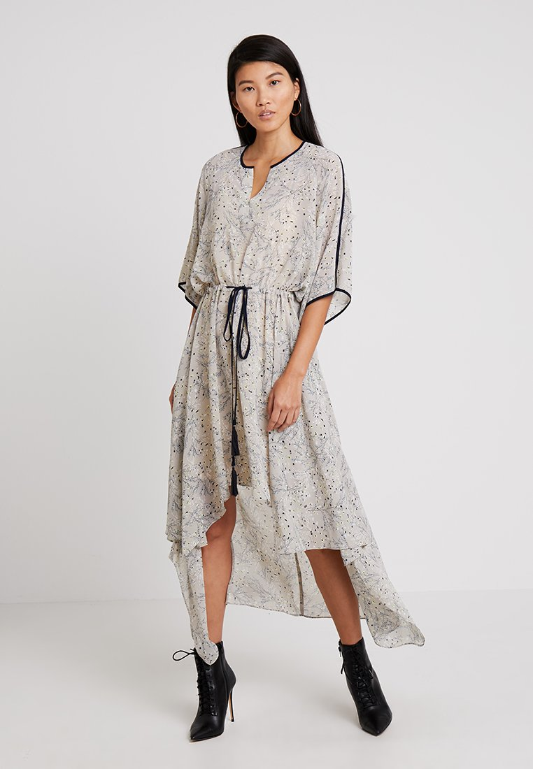 Apart - PRINTED DRESS - Robe longue - stone/multicolor