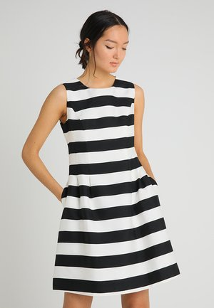 STRIPED DRESS - Robe de soirée - black/cream