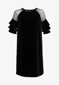 Apart - VELVET DRESS WITH VOLANTS - Robe de soirée - black - 5
