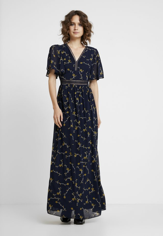 PRINTED DRESS - Robe longue - midnightblue/multicolor