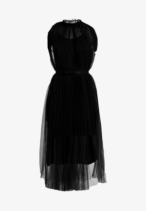 DRESS WITH BELT - Sukienka koktajlowa - black