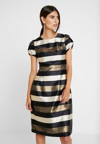 Apart - STRIPED DRESS - Robe de soirée - black/gold/cream - 0