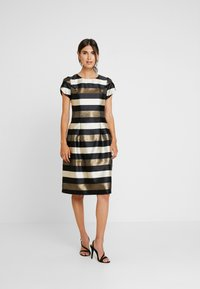 Apart - STRIPED DRESS - Robe de soirée - black/gold/cream - 2