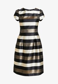 Apart - STRIPED DRESS - Robe de soirée - black/gold/cream - 5