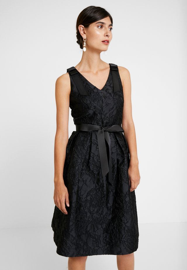 DRESS WITH BOW - Sukienka koktajlowa - black