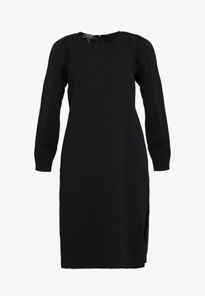 DRESS WITH PLISSEE SLEEVES - Day dress - black
