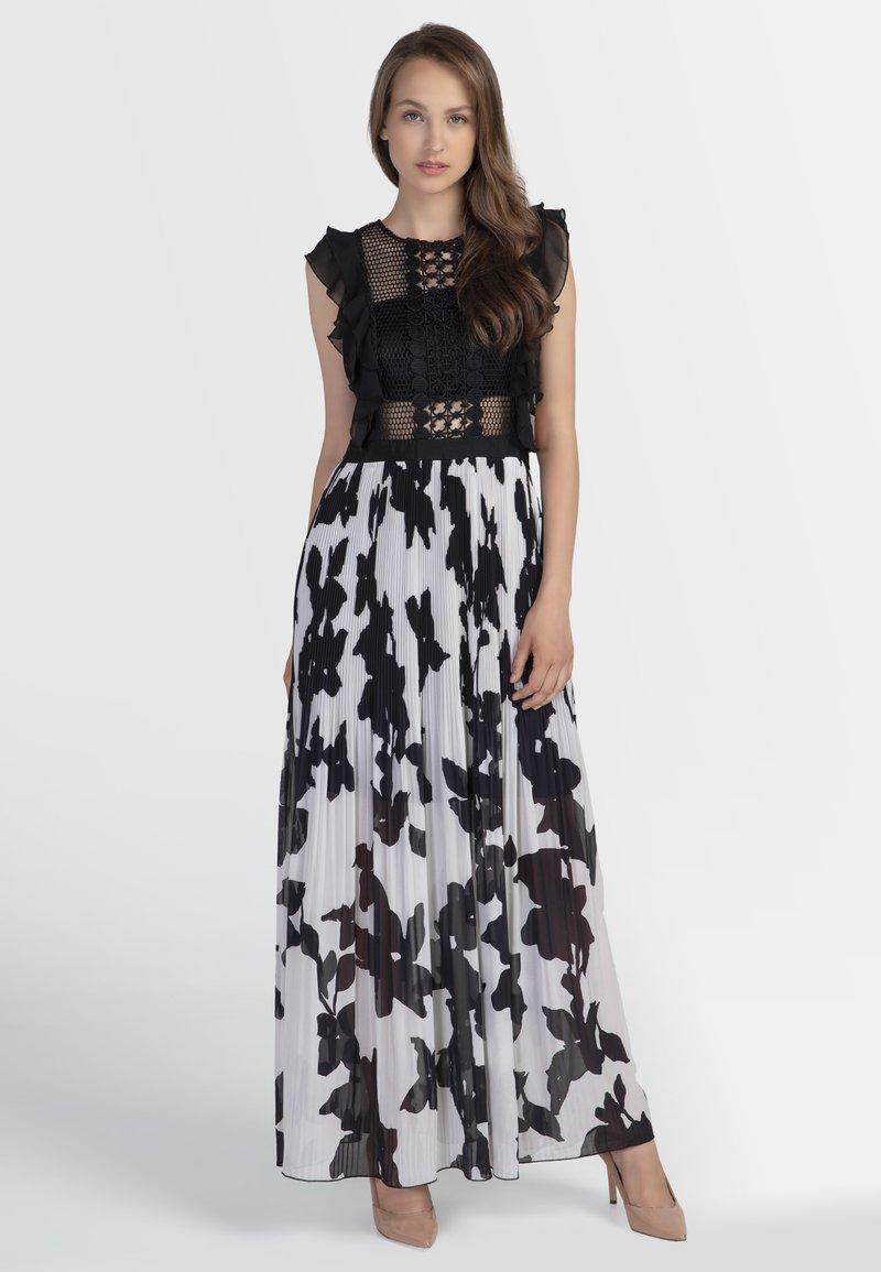 Apart - Sukienka koktajlowa - black/cream