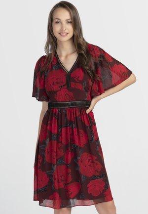 Sukienka letnia - rot-schwarz