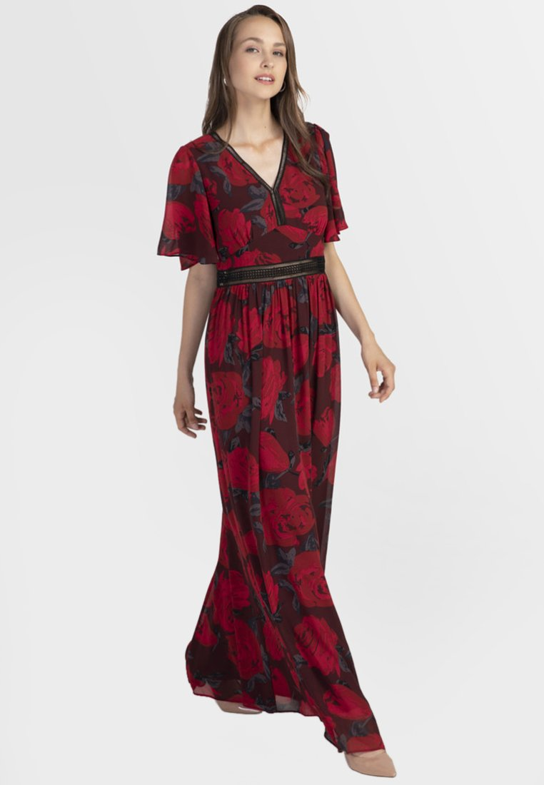 Apart - Robe longue - red/black