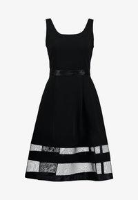 Apart - DRESS WITH ORGANZA - Koktejlové šaty/ šaty na párty - black - 4