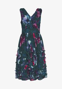 Apart - EMBROIDERED DRESS - Robe de soirée - petrol/multicolor