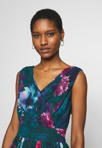 Apart - EMBROIDERED DRESS - Robe de soirée - petrol/multicolor - 3