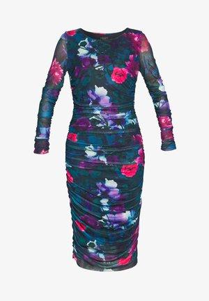 PRINTED DRESS - Robe en jersey - petrol/multi-coloured