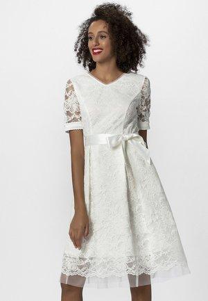 Sukienka koktajlowa - creme