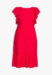 Apart - DRESS WITH VOLANTS - Vestito elegante - red - 4