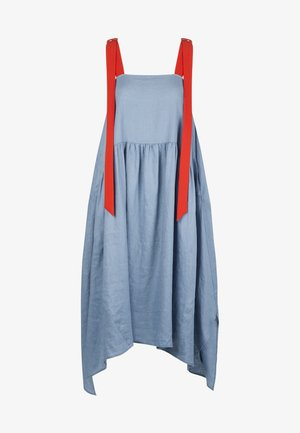 DRESS - Maxi dress - lightblue/lobster