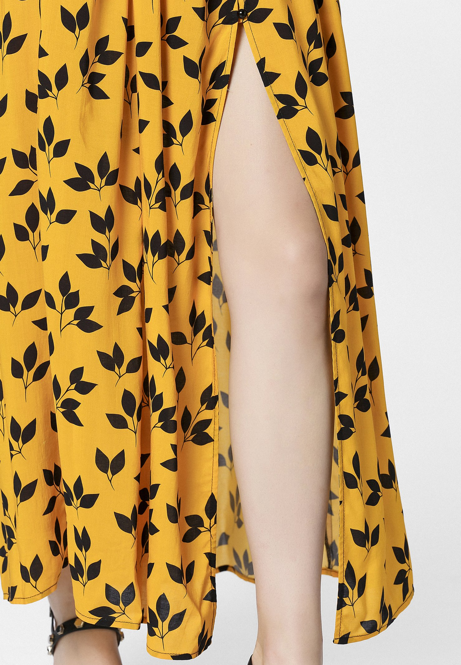 Apart PRINTED DRESS - Długa sukienka - yellow/black