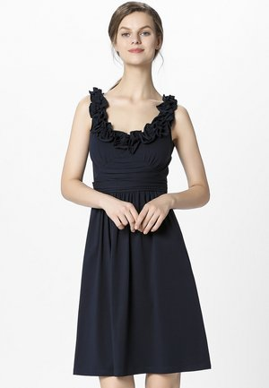 DRESS WITH VOLANTS - Vestido de cóctel - midnightblue