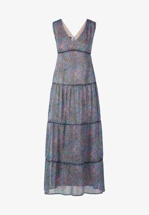 DRESS WITH VOLANTS - Długa sukienka - petrol/multicolor