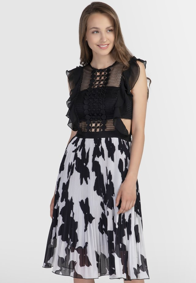 Cocktail dress / Party dress - black/cream
