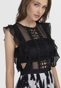 Apart - Vestito elegante - black/cream - 3