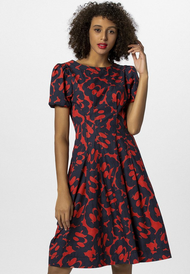 KLEID - Korte jurk - red-midnightblue