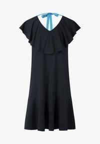 Apart - DRESS WITH VOLANTS - Denní šaty - midnightblue - 5