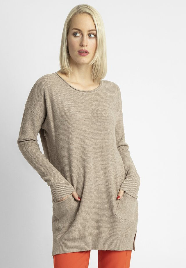 Sweter - taupe