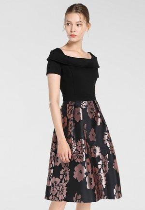 Sukienka koktajlowa - schwarz-mauve