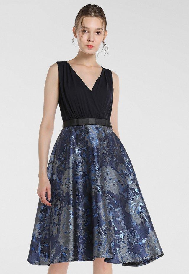 Cocktailkleid/festliches Kleid - nachtblau-multicolor