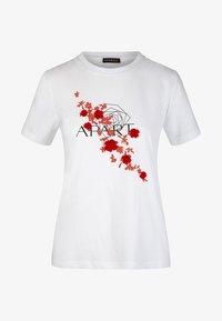 Apart - T-shirt imprimé - white/orange - 4