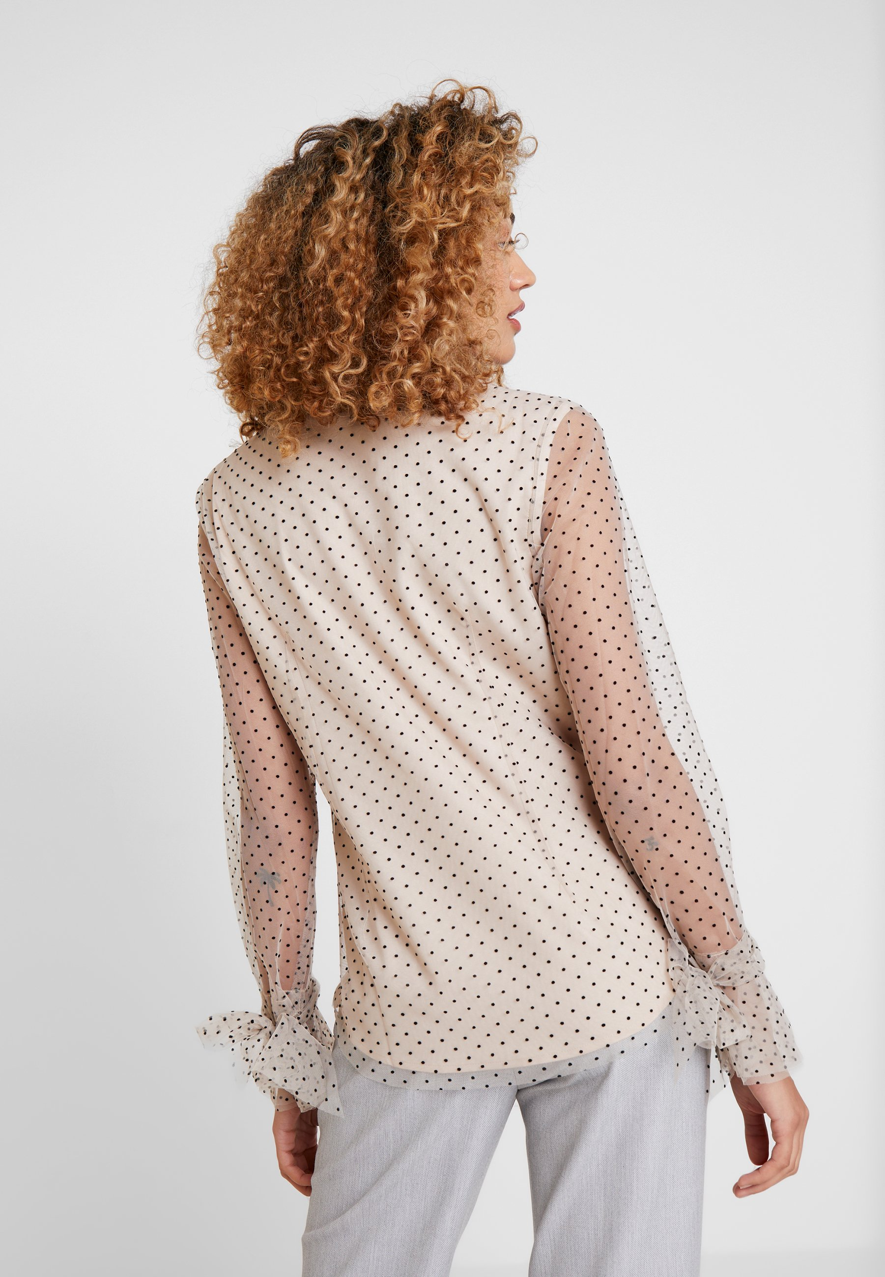 Apart BLOUSE WITH DOTS - Blouse nude/black