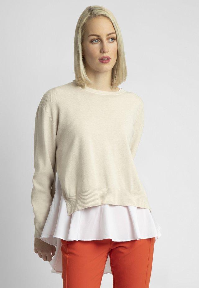 2IN1 STRICKPULLOVER - Sweter - beige