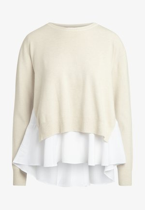 2IN1 STRICKPULLOVER - Pullover - beige
