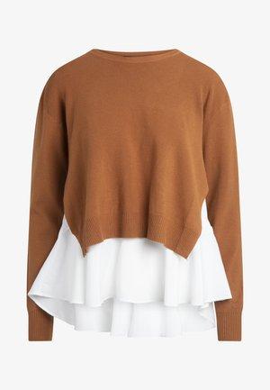 2IN1 STRICKPULLOVER - Pullover - caramel