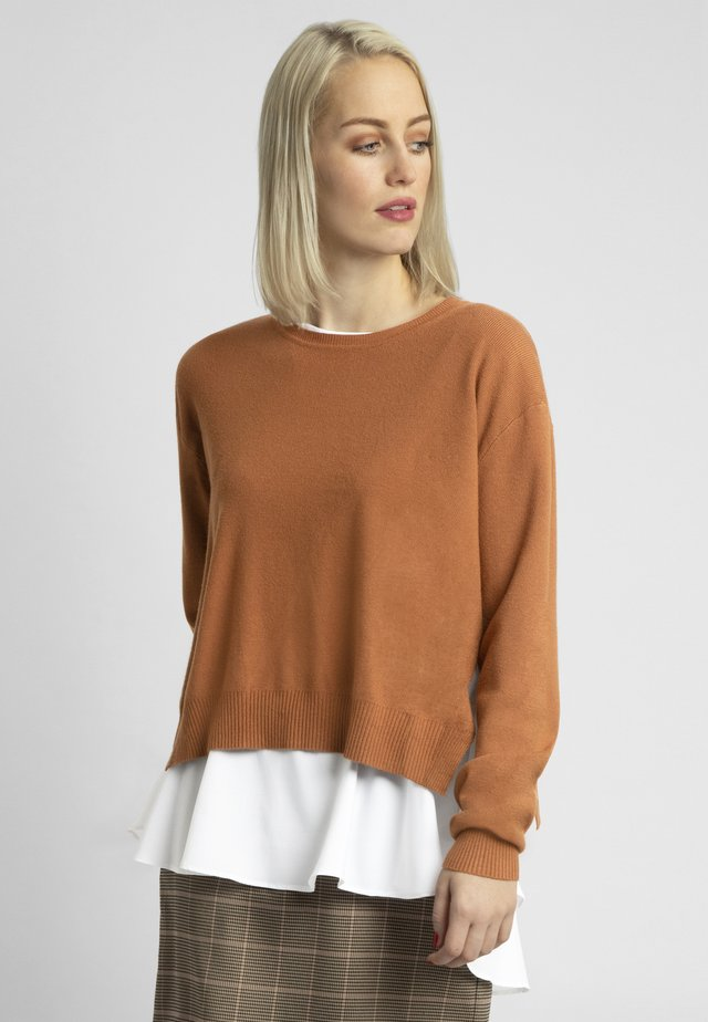 2IN1 STRICKPULLOVER - Sweter - caramel