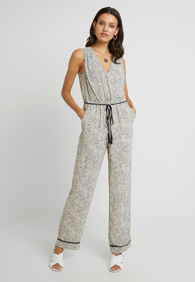 PRINTED OVERALL - Jumpsuit - stone/multicolor