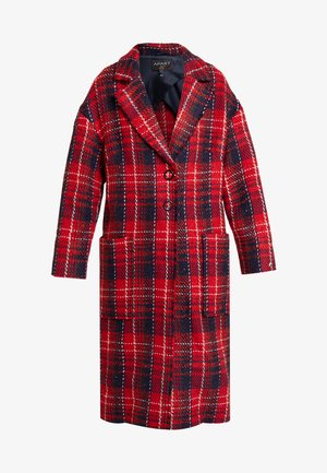 GLENCHECK COAT - Classic coat - red/midnightblue/cream