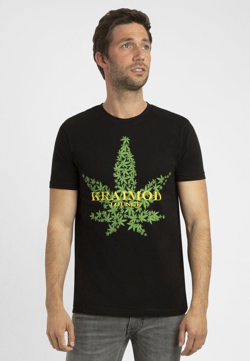 Apart - MIT DRUCK - T-shirt imprimé - schwarz