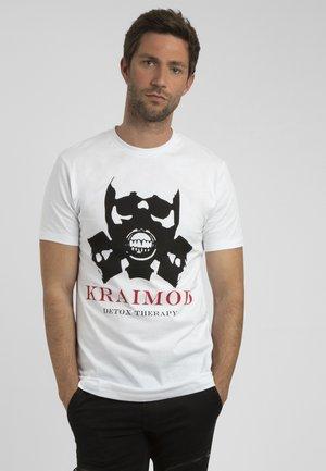 MIT DRUCK - T-shirt imprimé - weiß
