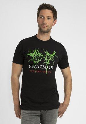 MIT DRUCK - T-shirt imprimé - schwarz