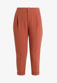Benetton - CROPPED SOFT PANT - Pantalon classique - nutmeg - 4
