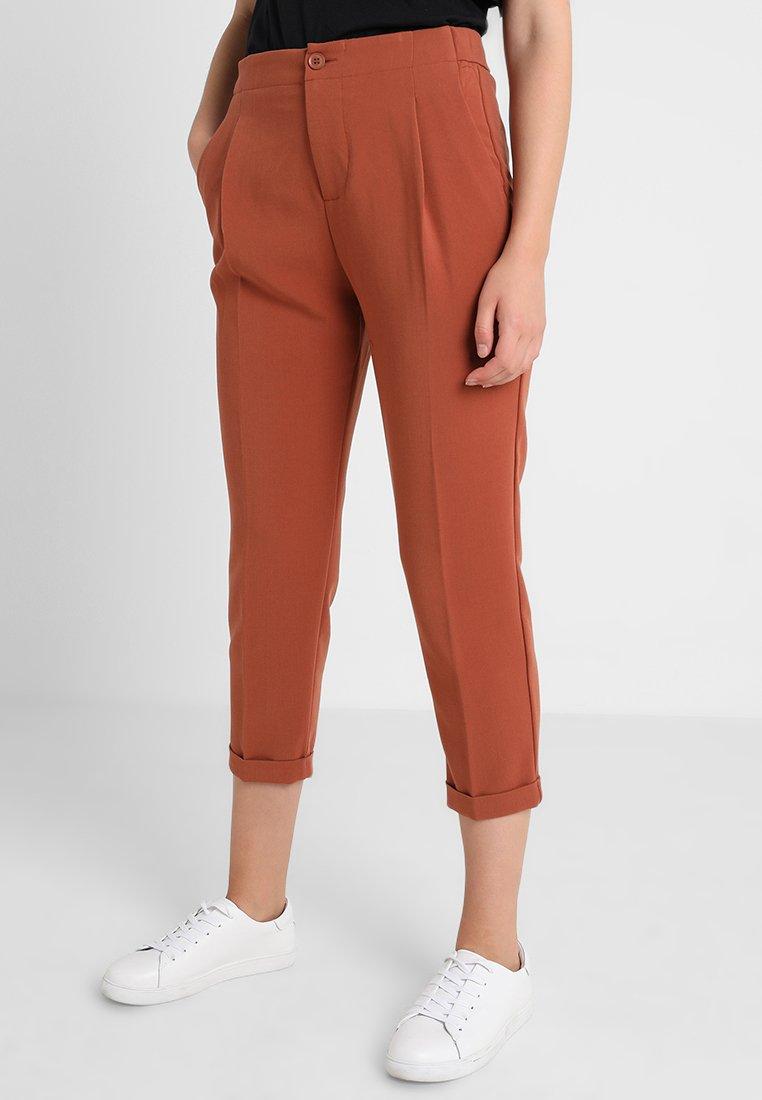 Benetton - CROPPED SOFT PANT - Pantalon classique - nutmeg
