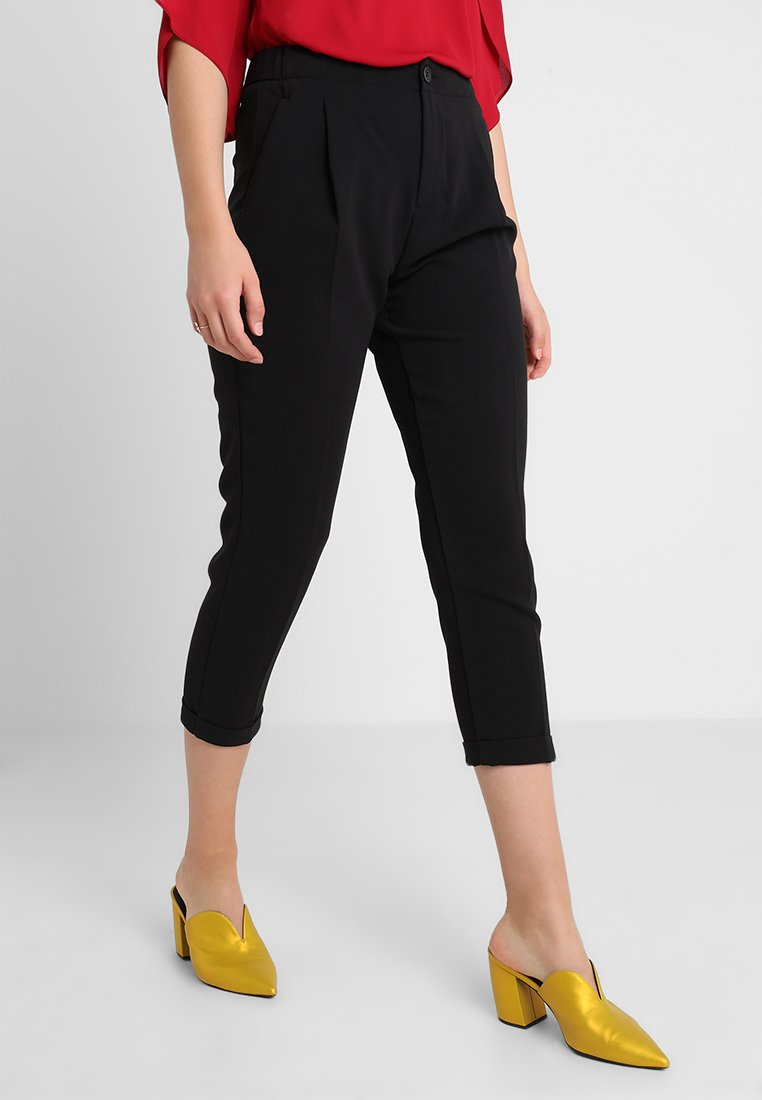 Benetton - CROPPED SOFT PANT - Trousers - black