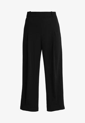 HIGH WAIST FLUID PANT - Kalhoty - black