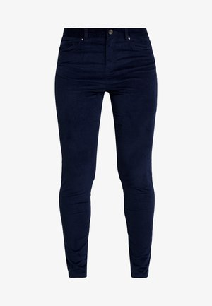 SKINNY TROUSER - Spodnie materiałowe - navy