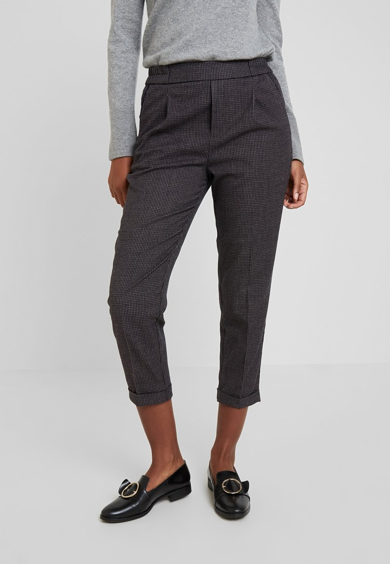Benetton - CHECK ELASTIC WAIST CIGARETTE PANT - Kalhoty - grey