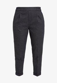 Benetton - CHECK ELASTIC WAIST CIGARETTE PANT - Trousers - grey - 3