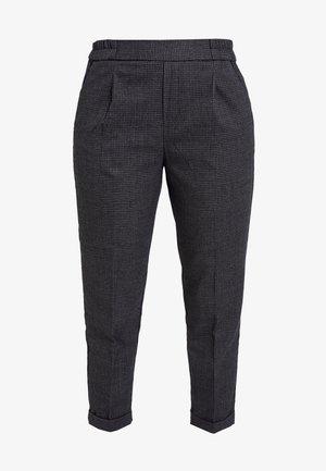 CHECK ELASTIC WAIST CIGARETTE PANT - Pantalon classique - grey