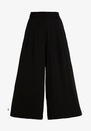 WIDE LEG CULOTTE - Kalhoty - black